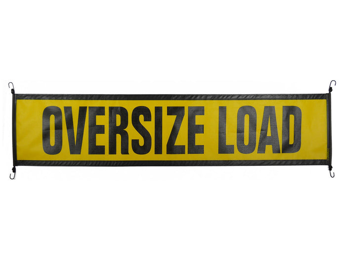 18″ X 84″ Ez Hook Mesh Oversize Load Sign