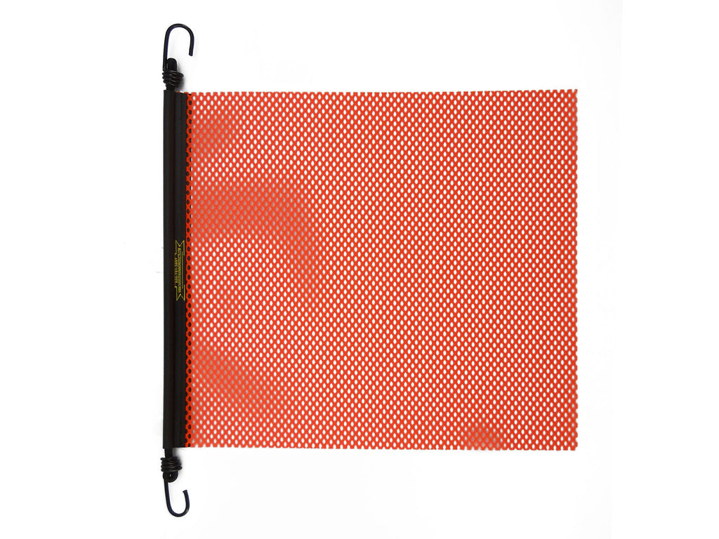 "24"" x 24'' EZ Hook Mesh Warning Flag Bungee Orange"