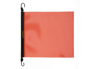 "24"" x 24'' EZ Hook Mesh Warning Flag Bungee Orange 10 pack"