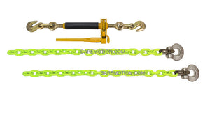 "3/8"" HI-VIZ Grade 100 Front Axle Tie Down Kit with Quikbinder"