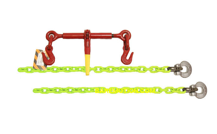 "1/2"" HI-VIZ Grade 100 Chain Front Axle Tie Down Kit"