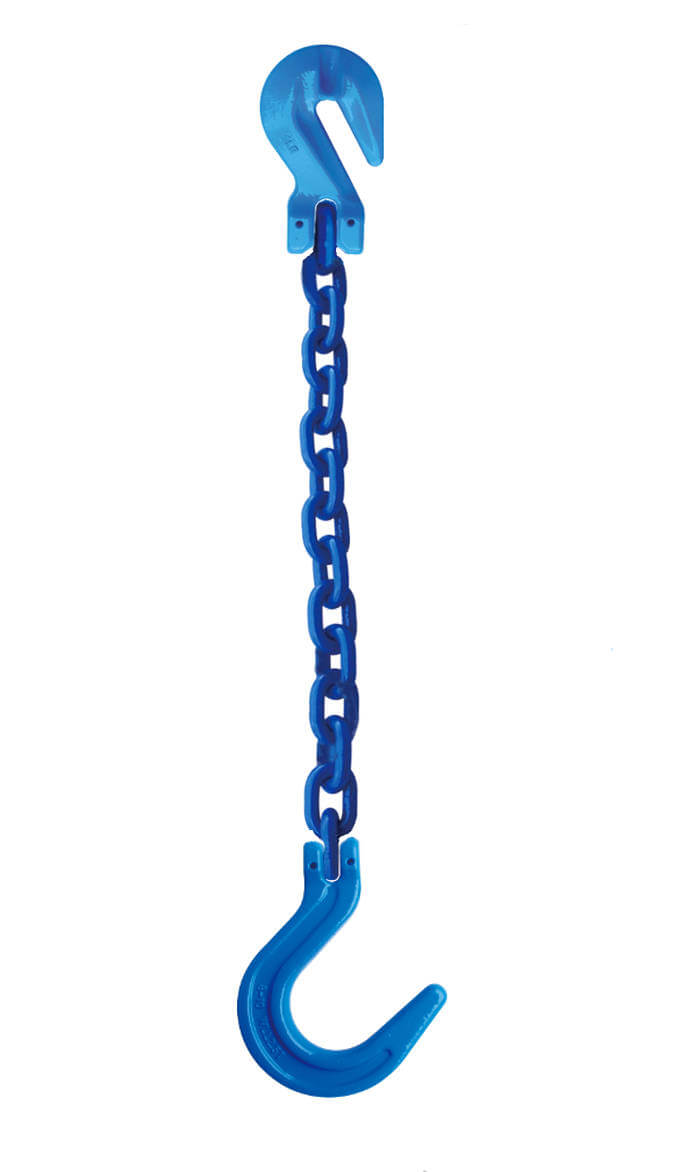 Grade 100 Chain Sling with Cradle Grab & Foundry Hook Single Leg SGF