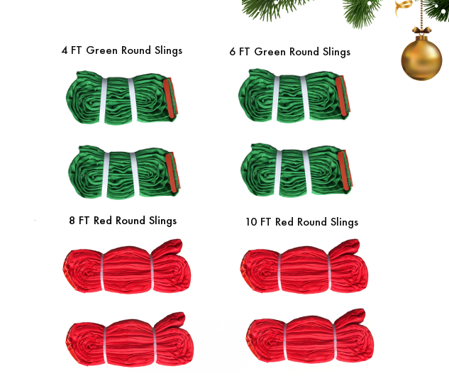 Red Green Round Sling Kit