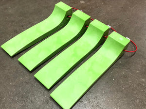 Standard Car Carrier Tire Skates 4-Pack Hi-Vis GREEN