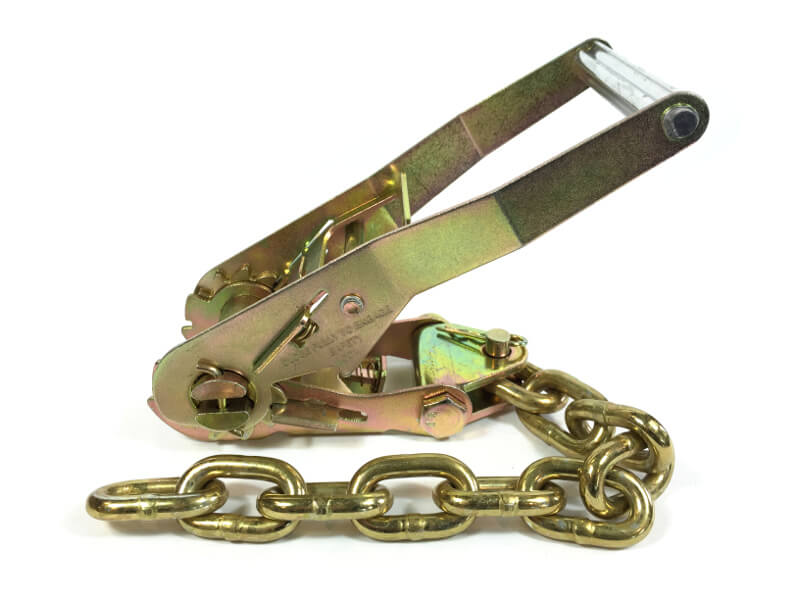 "2"" LONG WIDE Handle Ratchet Buckle with Chain"