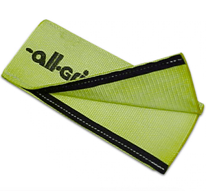 Heavy Duty Nylon Sliding Sleeve w/Velcro made in the USA with Hi-Viz Green webbing.