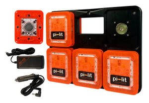 Pi-Lit®  Sequential LED Rechargeable Flare 10-Pack.  Kits comes with car charger and wall charger