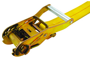 "2"" x 27' Ratchet Strap with Flat Hook Tie Down - Made or Assembled in USA"