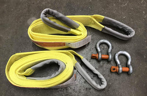 Recovery Strap Kit w/ Tree Saver Strap and shackles - Made in USA - available at Baremotion