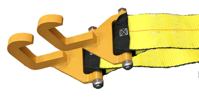 Roll-Off Container Strap w/ Bolt-On Hook SET
