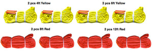 Round Sling Kit Medium Duty (8 Sling) Yellow and red round polyester slings