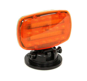 Amber LED Battery Operated Safety Flashers w/ Adjustable Magnetic Base