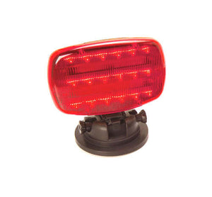 Red LED Battery Operated Safety Flashers w/ Adjustable Magnetic Base