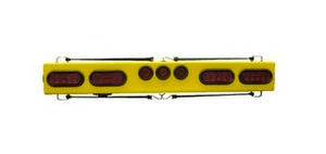 "48"" Wired LED Light Bar with Side Markers and a  7-Pin Heavy Duty Round Socket."