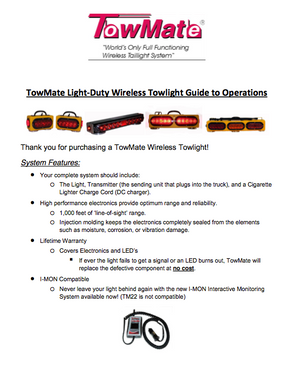 towmate light duty system operations