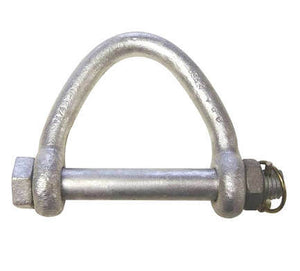 Web Sling Shackles, Hot Dip Galvanized, with Safety Bolt & Nut.