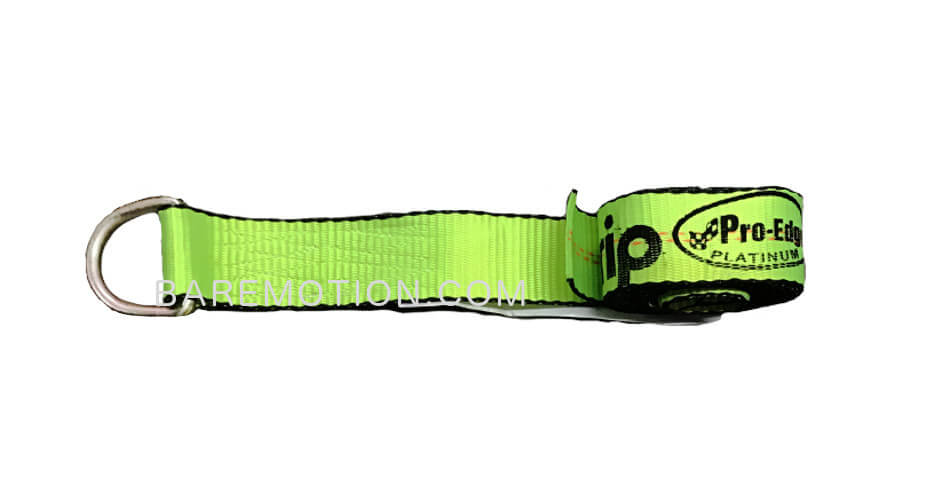 8' Lasso Strap with D Ring Hi-Viz Green - Wheel Lift strap for Tow Truck