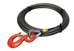 "1/2"" Steel Core Winch Cables with Eye Hook."