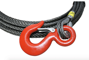 "7/16"" Steel Core Winch Cables with Eye Hook."