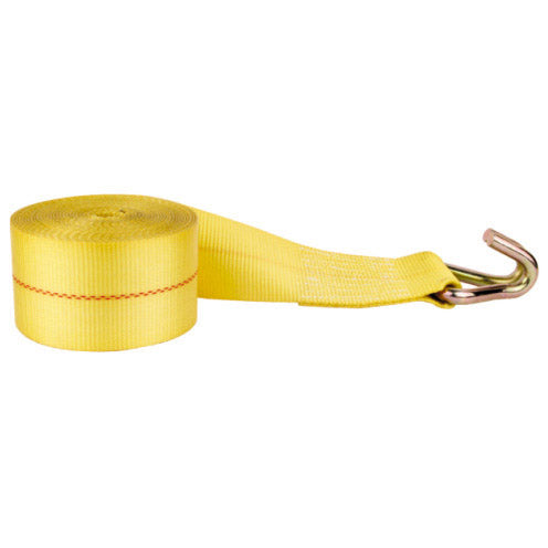 "2"" x 15' Winch Straps with Wire Hook - Made or Assembled in USA"