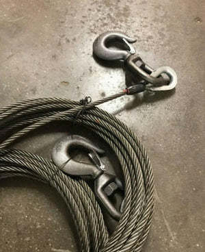 Steel Core Winch Line with Swivel Hook