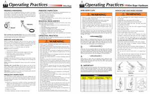 All-Grip Winch Line Operating Practices