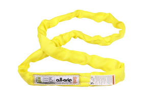 Yellow Polyester Round Sling All-Grip 8,400 LBS WLL (USA)