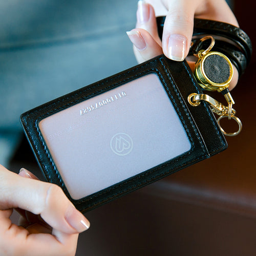 CARDHOLDER Retractable (Gold Hardware)