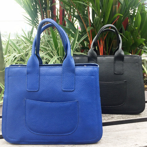 CALF LEATHER Structured Bag