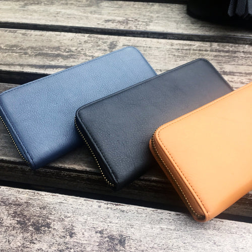 CALF LEATHER Zippy Wallet