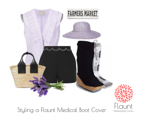 Flaunt Verano medical walking boot cover