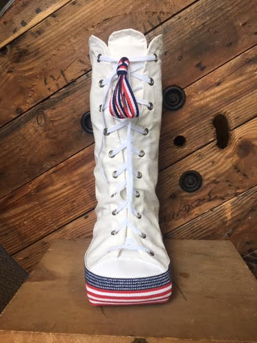 fourth of july colors in americana style medical walking boot covers for summer fun fashion