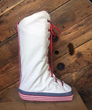 July 4th patriotic medical walking boot cover for injured ankles to cover your walking cast in style