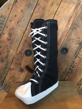 Medical boot cover to fit over your medical boot after surgery or injury. Converse athletic shoe look.