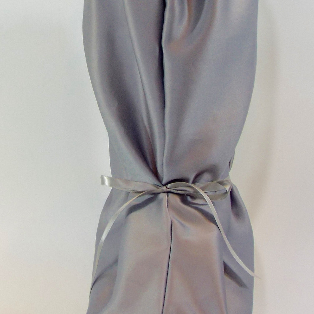 Silver Gray Satin Nightie Boot Cover