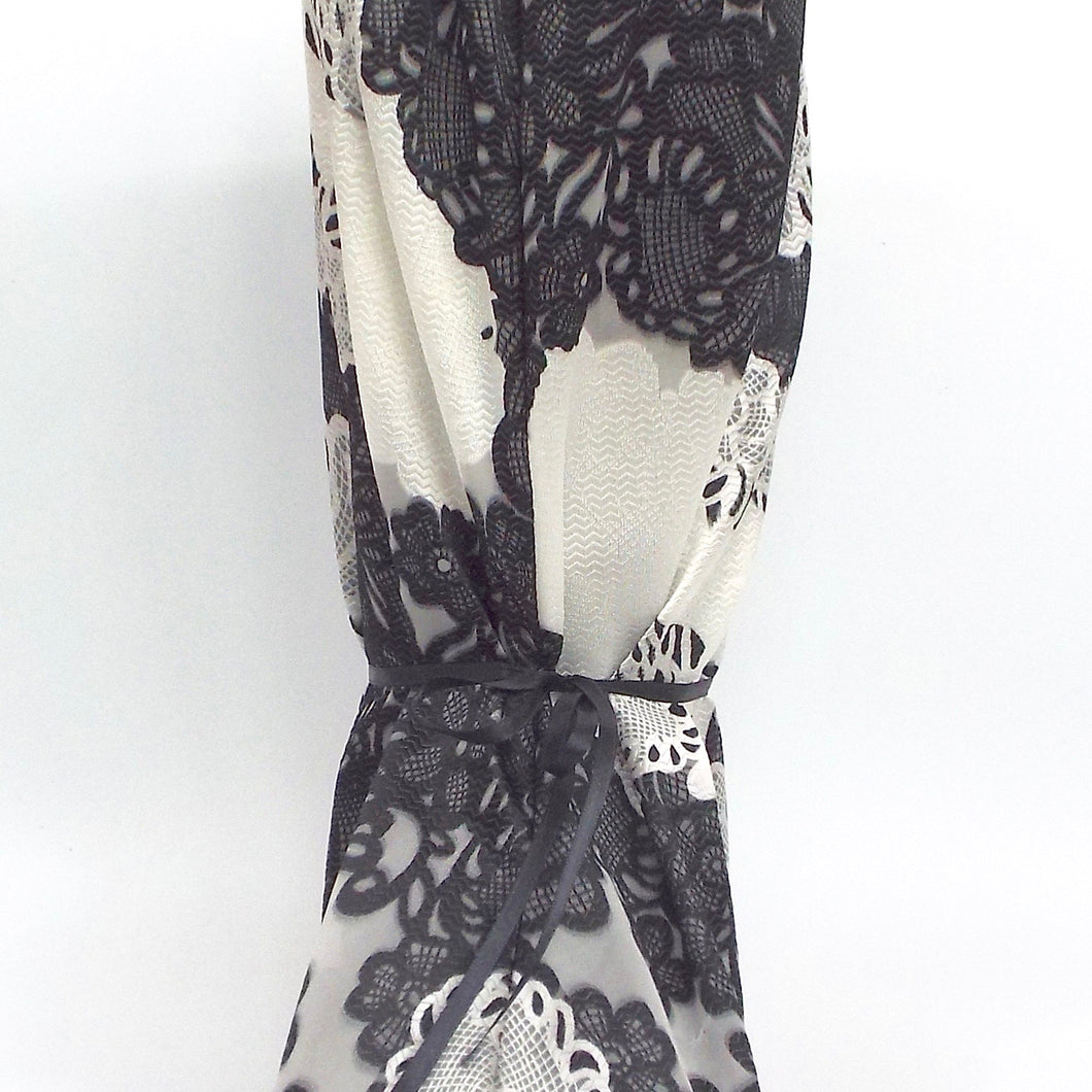 Silvery Lace-Look Nightie Boot Cover