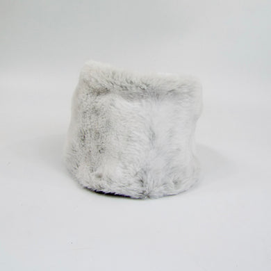 tie on faux fur cuff for boots, medical boots, walking cast, or aircast