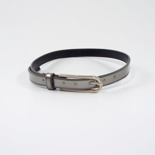 Pewter Belt with Silver Buckle