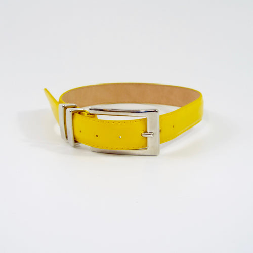 Sunny Yellow Belt with Silver Buckle