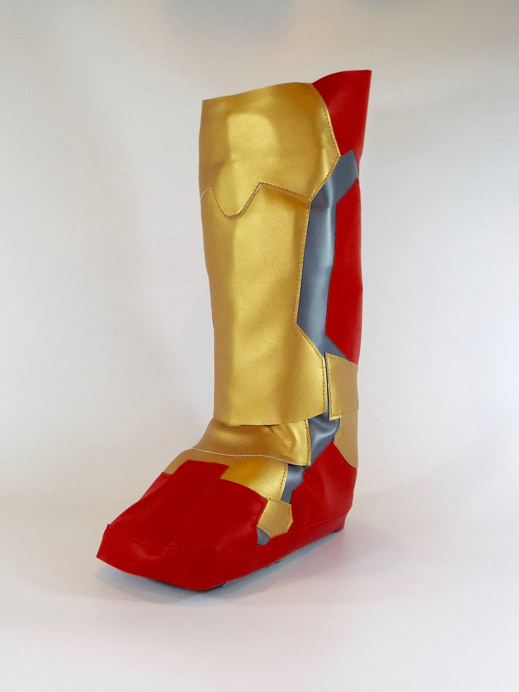 Super hero ironman style cover to go over a medical boot