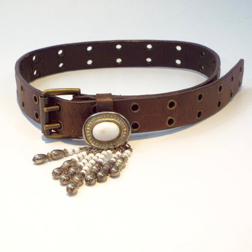 Brown belt w/Antiqued Brass Grommets