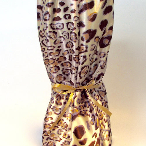 Cheetah Print Satin Nightie Boot Cover for Sleeping