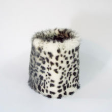 White Snow Leopard Faux Fur Cuff