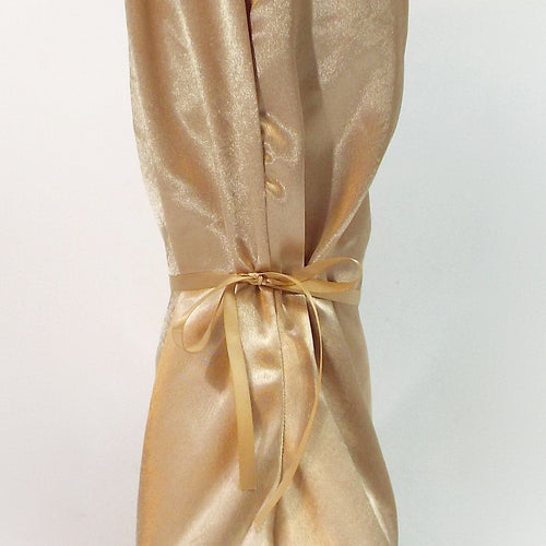 Golden Champagne Satin Nightie Boot Cover