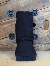 Stylish cover for aircast or medical boot by Flaunt Boots. Recover from ankle surgery in fashion and comfort.