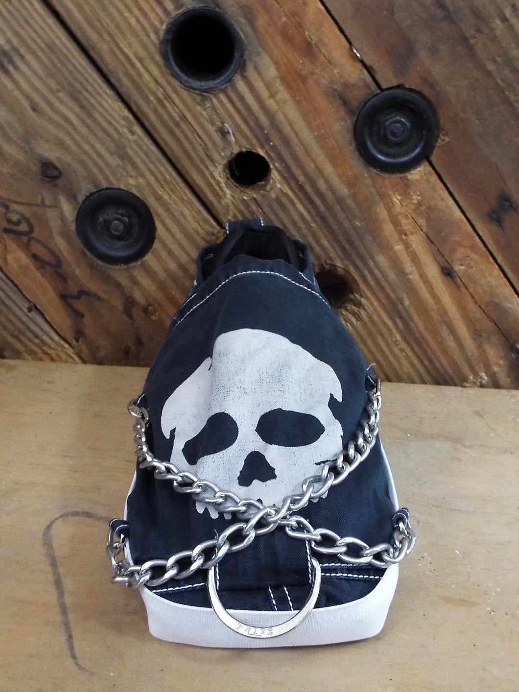 The Strummer medical orthopedic post-op shoe cover. Unique grunge style. One of a kind.