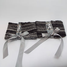 Shades of Gray Tie-On Cuff Set of 2