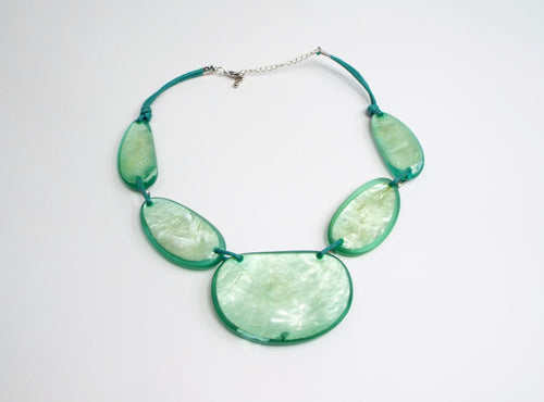 Aqua Green Acrylic Bauble Necklace/Band
