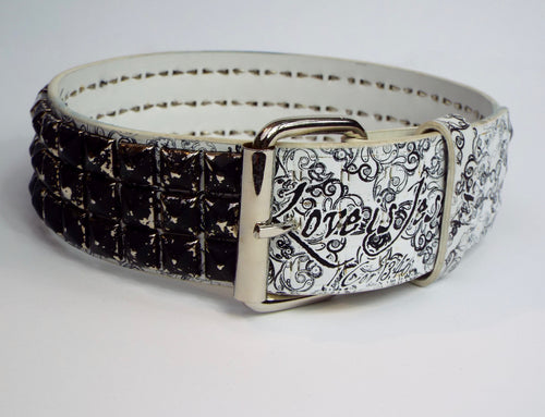 Black & White Graffiti Belt