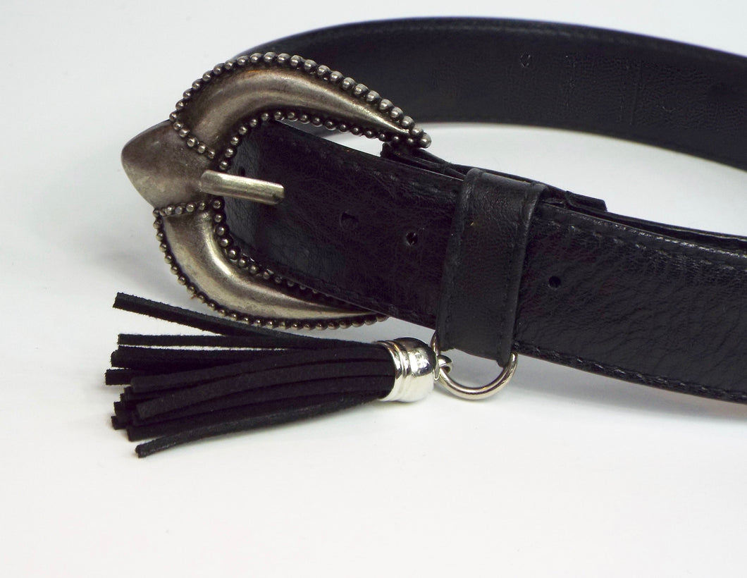 Black Belt w/Western Buckle and Tassel